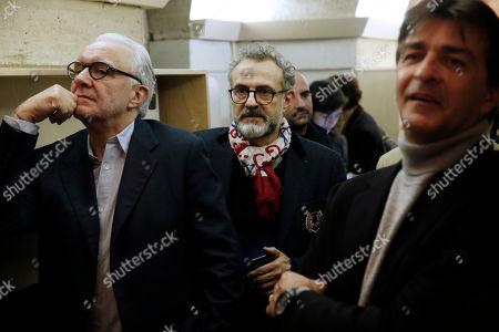 Alain Ducasse, Massimo Bottura and Yannick Alleno
