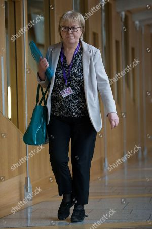 Johann Lamont makes her way to the Debating Chamber.