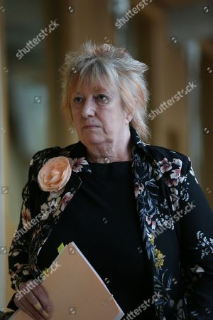Stock Picture of Christine Grahame, Deputy Presiding Office of The Scottish Parliament, makes her way to the Debating Chamber.