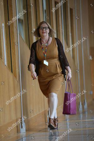 Linda Fabiani, Deputy Presiding Office of The Scottish Parliament, makes her way to the Debating Chamber.