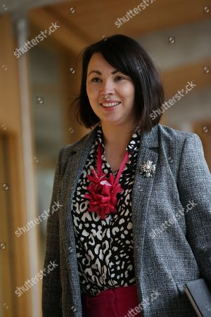 Monica Lennon makes her way to the Debating Chamber.