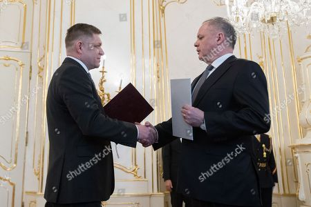 Robert Fico and Andrej Kiska