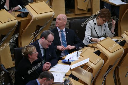 Offensive Behaviour at Football and Threatening Communications (Repeal) (Scotland) Bill - Annabelle Ewing, Minister for Community Safety and Legal Affairs, Paul Wheelhouse, Minister for Business, Innovation and Energy, Joe FitzPatrick, Minister for Parliamentary Business, and Nicola Sturgeon, First Minister of Scotland and Leader of the Scottish National Party (SNP)
