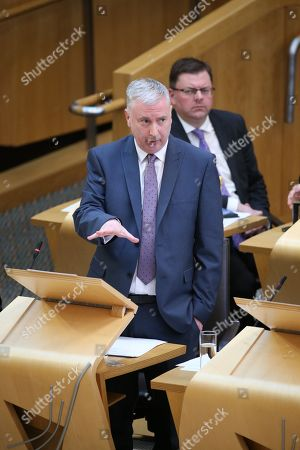 Editorial photo of Offensive Behaviour at Football and Threatening Communications (Repeal) (Scotland) Bill, The Scottish Parliament, Edinburgh, Scotland, UK - 15th March 2018