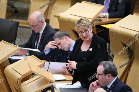 Offensive Behaviour at Football and Threatening Communications (Repeal) (Scotland) Bill - John Swinney, Deputy First Minister and Cabinet Secretary for Education and Skills, Michael Matheson, Cabinet Secretary for Justice, Annabelle Ewing, Minister for Community Safety and Legal Affairs, and Paul Wheelhouse, Minister for Business, Innovation and Energy