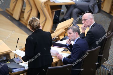 Offensive Behaviour at Football and Threatening Communications (Repeal) (Scotland) Bill - Annabelle Ewing, Minister for Community Safety and Legal Affairs, Michael Matheson, Cabinet Secretary for Justice, and John Swinney, Deputy First Minister and Cabinet Secretary for Education and Skills