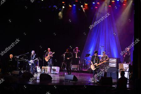 Stock Picture of Mike Garson, Gerry Leonard, Joe Sumner, Bernard Fowler, Mr Hudson, Lee John Madeloni, Earl Slick, Carmine Rojas