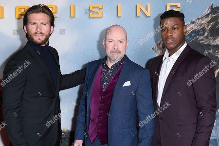 Scott Eastwood, Steven S. DeKnight and John Boyega