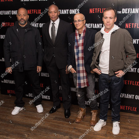 Allen Hughes, Dr Dre, Jimmy Iovine and Chris Hughes
