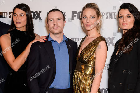 Stock Image of Karima McAdams, Joe Dempsie, Anastasia Griffith and Lyne Renee