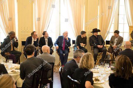 Danny Boyle, Simon Beaufoy, Donald Sutherland, Harris Dickinson, Brendan Fraser, Michael Esper