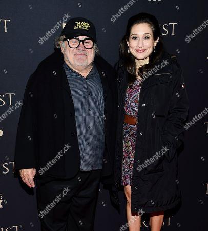 Danny DeVito, Lucy DeVito. Actor Danny DeVito and daughter Lucy DeVito attend FX Networks' annual all-star party at SVA Theatre, in New York