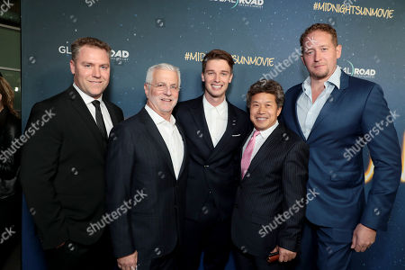 John Rickard, Producer, Rob Friedman, Chairman and CEO, TMP Entertainment, Patrick Schwarzenegger, Donald Tang, Founder and Managing Partner, Tang Media Partners, Zack Schiller, Producer,