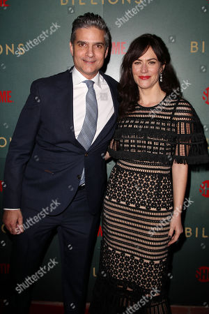 David Levien (Producer, Showrunner; Billions) and Maggie Siff