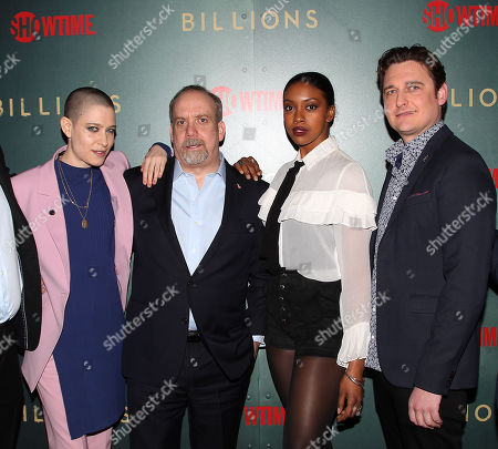 Asia Kate Dillon, Paul Giamatti, Condola Rashad and Toby Leonard Moore