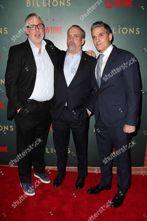 Brian Koppelman (Producer, Showrunner; Billions), Paul Giamatti and David Levien (Producer, Showrunner; Billions)