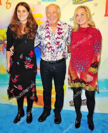 Jimmy Buffett with wife Jane Slagsvol and daughter Delaney Buffett