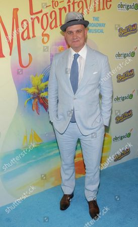 """Playwright Mike O' Malley attends the Broadway opening night of """"Escape to Margaritaville"""" at the Marquis Theatre, in New York"""