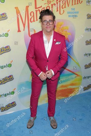"""Actor Eric Petersen attends the after party following the Broadway opening night of """"Escape to Margaritaville"""" at Pier Sixty at Chelsea Piers, in New York"""
