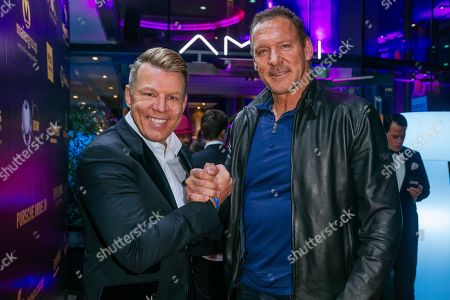 Stock Picture of Axel Kahn and Ralf Moeller