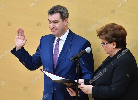Markus Soeder and Barbara Stamm