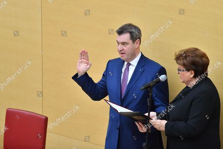 Stock Picture of Markus Soeder and Barbara Stamm