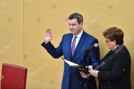 Editorial picture of Swearing-in of new Bavarian Prime Minister, Munich, Germany - 16 Mar 2018