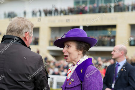 Princess Anne talks to Nick Skelton in the Parade Ring