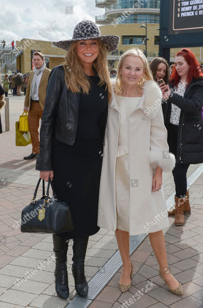 Carol Vorderman and Lisa Maxwell arrive in the grounds