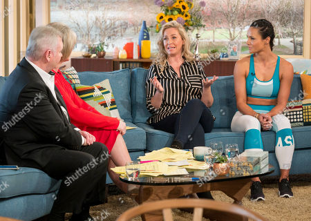 Stock Image of Eamonn Holmes and Ruth Langsford with Josie Gibson and Jenny Pacey
