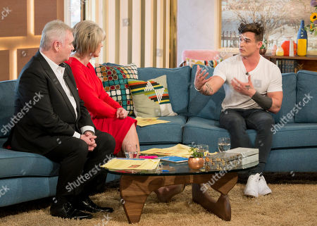 Eamonn Holmes and Ruth Langsford with Lotan Carter