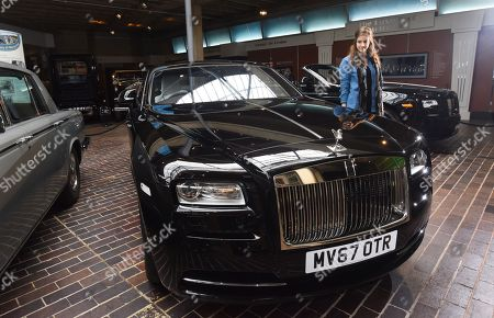 The George Martin Rolls Royce on display at the at the National Motor Museum in Beaulieu.