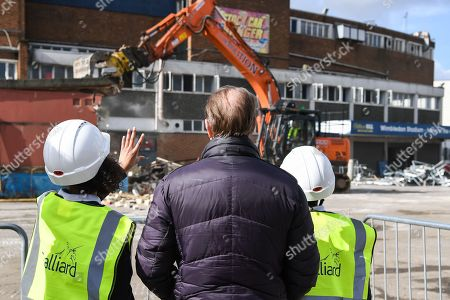 Editorial photo of AFC Wimbledon., Demolition Event - 16 Mar 2018