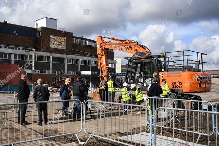 Editorial image of AFC Wimbledon., Demolition Event - 16 Mar 2018