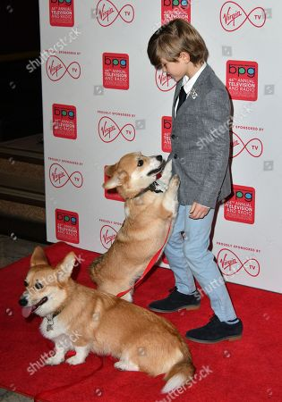 Billy Jenkins with corgis Prince and Lilly