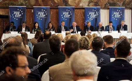 Francois Bayrou, Karl Erjavec and Fernando Clavijo
