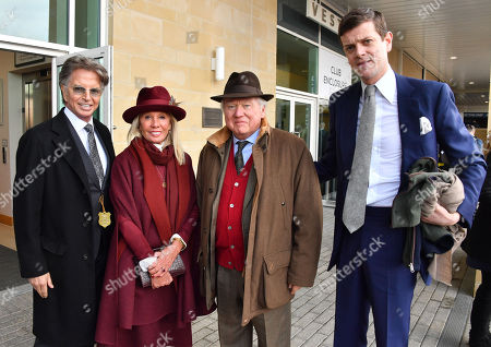 Richard Caring, Lord and Lady Bamford and Alexander Spencer Churchill spotted at the Cheltenham Festival Gold Cup Day