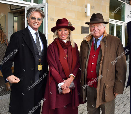 Stock Picture of Richard Caring, Lord and Lady Bamford and Alexander Spencer Churchill spotted at the Cheltenham Festival Gold Cup Day