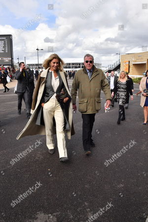Jeremy Clarkson and Lisa Hogan spotted at the Cheltenham Festival Gold Cup Day