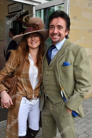 Stock Image of Mindy Hammond and Richard Hammond spotted at the Cheltenham Festival Gold Cup Day