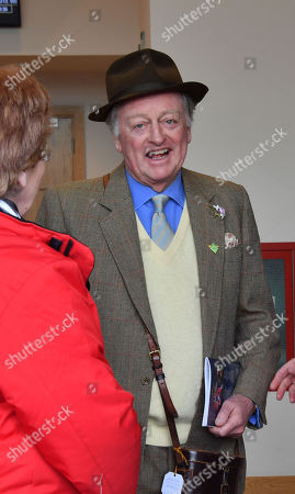 Andrew parker-Bowles spotted at the Cheltenham Festival Gold Cup Day