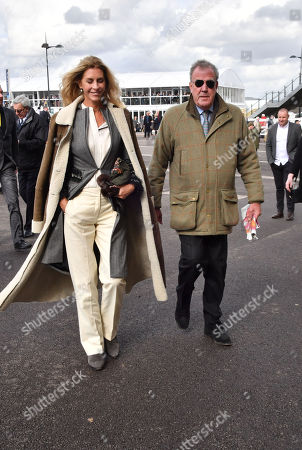 Lisa Hogan and Jeremy Clarkson spotted at the Cheltenham Festival Gold Cup Day
