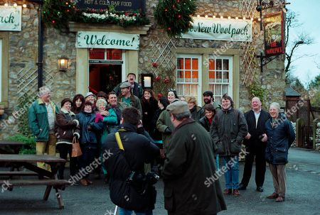 Ep 2454 Wednesday 9th December 1998  The villagers gather for the grand re-opening of The Woolpack, but Seth's speech goes slightly awry when he suggests it would have been nicer had Terry been around - and that he still pines for the days of Amos Brearley and Henry Wilks - With Seth Armstrong, as played by Stan Richards ; Alan Turner, As played by Richard Thorp ; Jack Sugden, as played by Clive Hornby ; Tricia Stokes, as played by Sheree Murphy ; Kelly Windsor, as played by Adele Silva ; Vic Windsor, as played by Alun Lewis ; Mandy Dingle, as played by Lisa Riley ; Ned Glover, as played by Johnny Leeze ; Sarah Sugden, as played by Alyson Spiro ; Betty Eagleton, as played by Paula Tilbrook ; Zak Dingle, as played by Steve Halliwell.