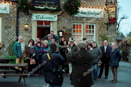 Ep 2454 Wednesday 9th December 1998  The villagers gather for the grand re-opening of The Woolpack, but Seth's speech goes slightly awry when he suggests it would have been nicer had Terry been around - and that he still pines for the days of Amos Brearley and Henry Wilks - With Seth Armstrong, as played by Stan Richards ; Alan Turner, As played by Richard Thorp ; Jack Sugden, as played by Clive Hornby ; Tricia Stokes, as played by Sheree Murphy ; Kelly Windsor, as played by Adele Silva ; Vic Windsor, as played by Alun Lewis ; Mandy Dingle, as played by Lisa Riley ; Ned Glover, as played by Johnny Leeze ; Sarah Sugden, as played by Alyson Spiro ; Betty Eagleton, as played by Paula Tilbrook.