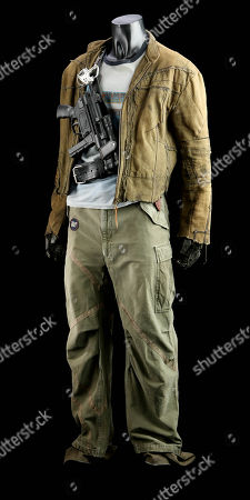 Jayne Cobb's (Adam Baldwin) costume from Joss Whedon's sci-fi adventure film Serenity. Jayne wore his blue T-shirt and jacket when he and the crew attempted a heist at the beginning of the film.
