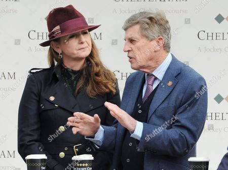 Alice Plunkett - former eventer and National Hunt jockey and current presenter on ITV Racing with ITV team member Scott Brough