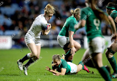 England Women vs Ireland Women. England's Danielle Waterman and Megan Williams of Ireland