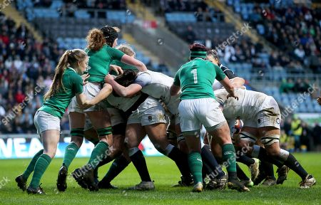 Editorial photo of Women's Six Nations Championship Round 5, Ricoh Arena, Coventry, England  - 16 Mar 2018
