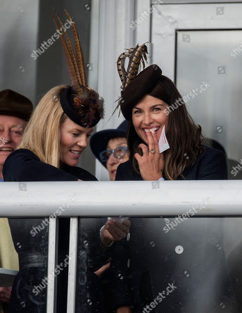Autumn Phillips and Amelia Warner watch the racing