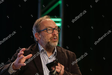 Wikipedia co-founder Jimmy Wales participates in the fourth edition of 'Move', an event related to innovation and mobile technology in Montevideo, Uruguay, 16 March 2018.